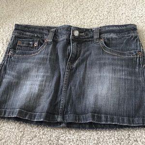 Gray Denim Mini Skirt